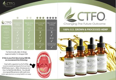 CTFO CBD Oil Instructions