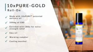 10xPure Gold Roll On - 500mg CBD